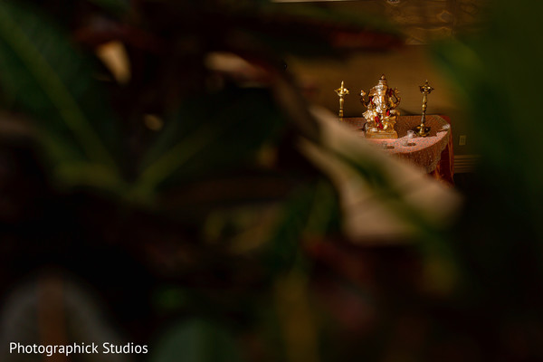 View of god Ganesh. in Alexandria, VA Indian Wedding by Photographick Studios