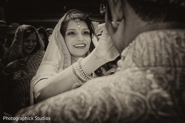 Milni ceremony in Alexandria, VA Indian Wedding by Photographick Studios