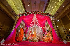 Lovely Indian bride and groom at their wedding ceremony.