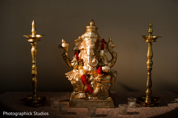 Portrait of Ganesh. in Alexandria, VA Indian Wedding by Photographick Studios