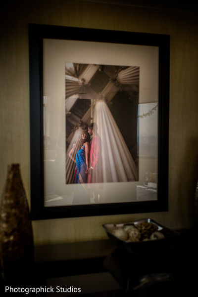 Beautiful reflection of indian bride and groom. in Alexandria, VA Indian Wedding by Photographick Studios