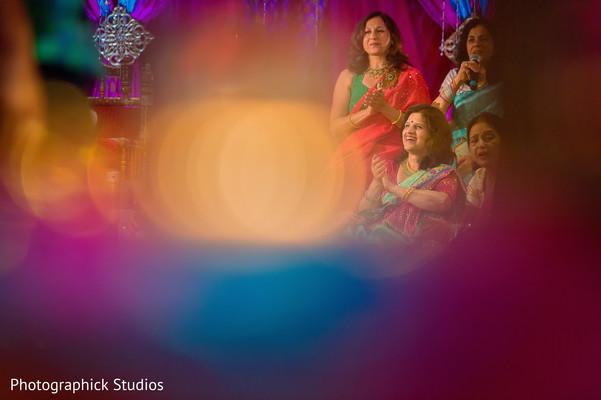 Indian wedding garba celebration.