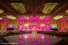 Hot pink lights for indian wedding reception.
