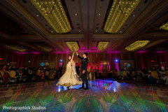 Lovely indian bride and groom first dance.