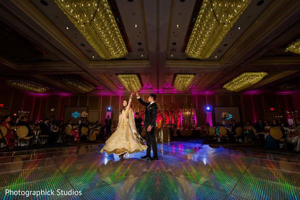 Lovely indian bride and groom first dance. in Alexandria, VA Indian Wedding by Photographick Studios