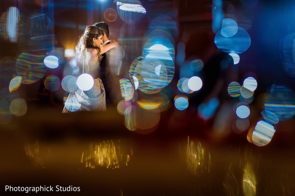 Romantic moment of indian bride and groom. in Alexandria, VA Indian Wedding by Photographick Studios