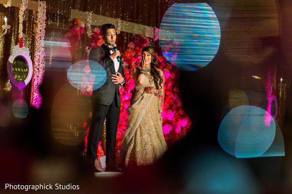 Great shot of indian groom speech in Alexandria, VA Indian Wedding by Photographick Studios