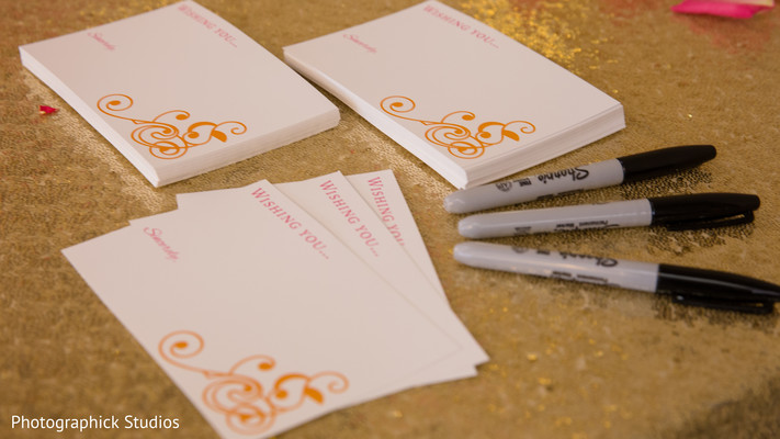 Wishing card station. in Alexandria, VA Indian Wedding by Photographick Studios