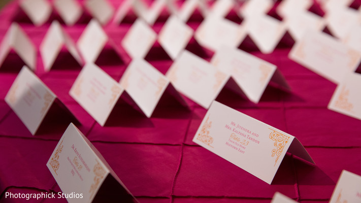 Indian wedding reception stationary. in Alexandria, VA Indian Wedding by Photographick Studios