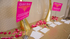 indian wedding guest book,pink and gold indian wedding book,indian wedding guest book station