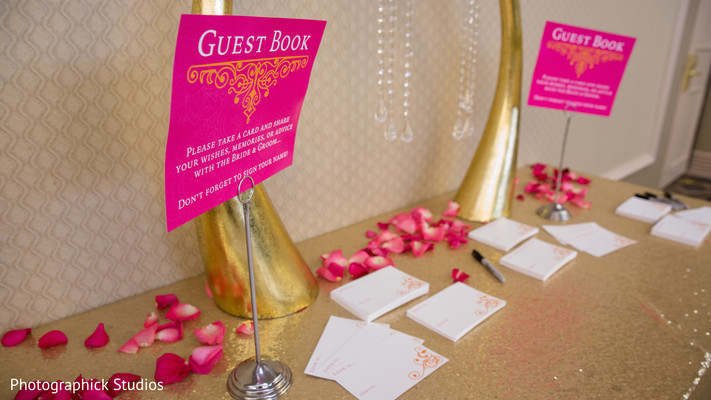 Indian wedding guest book station in Alexandria, VA Indian Wedding by Photographick Studios