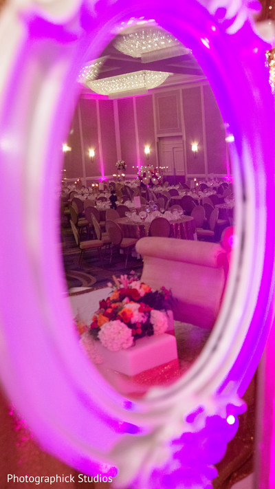 Stunning image of indian wedding reception venue. in Alexandria, VA Indian Wedding by Photographick Studios