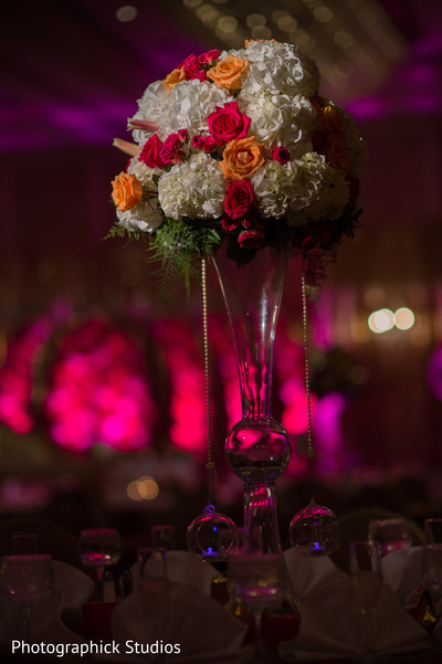 high centerpiece flower decoration,indian wedding decoration,indian wedding reception centerpiece