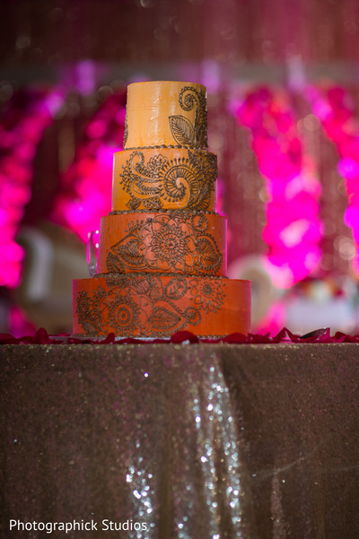 Indian wedding cake. in Alexandria, VA Indian Wedding by Photographick Studios