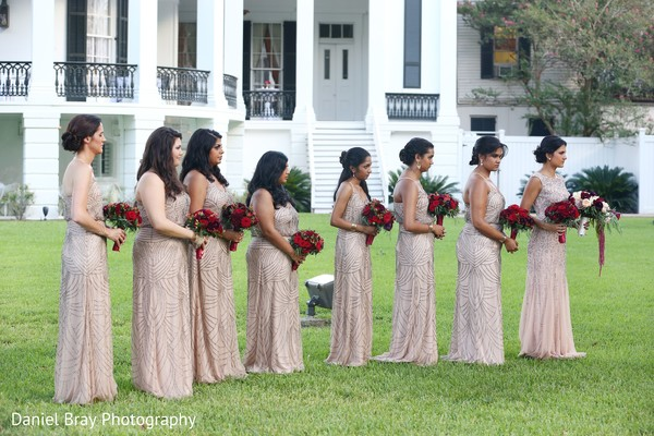Bride tribe in White Castle, LA Fusion Wedding by Daniel Bray Photography