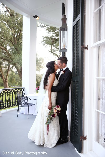 Reception photo shoot in White Castle, LA Fusion Wedding by Daniel Bray Photography