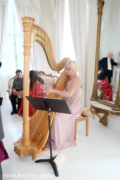 Harp player in White Castle, LA Fusion Wedding by Daniel Bray Photography