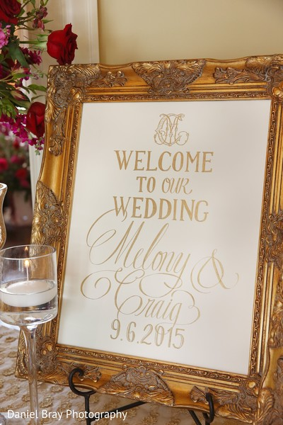 Welcome sign in White Castle, LA Fusion Wedding by Daniel Bray Photography