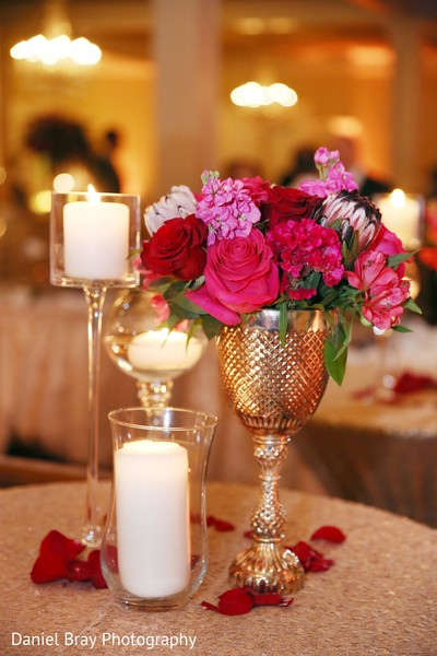 Centerpieces in White Castle, LA Fusion Wedding by Daniel Bray Photography