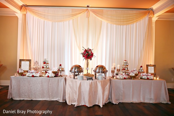 Wedding food table decor in White Castle, LA Fusion Wedding by Daniel Bray Photography