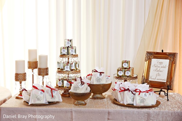 Wedding favors display in White Castle, LA Fusion Wedding by Daniel Bray Photography