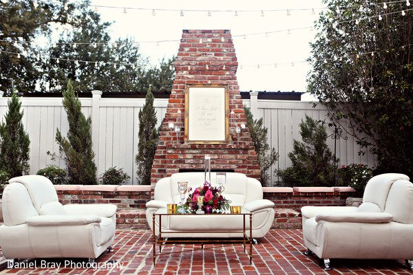 Wedding seating decorations in White Castle, LA Fusion Wedding by Daniel Bray Photography