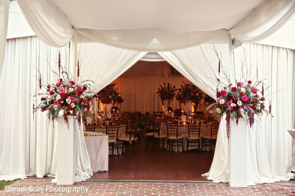 Wedding draped decor in White Castle, LA Fusion Wedding by Daniel Bray Photography