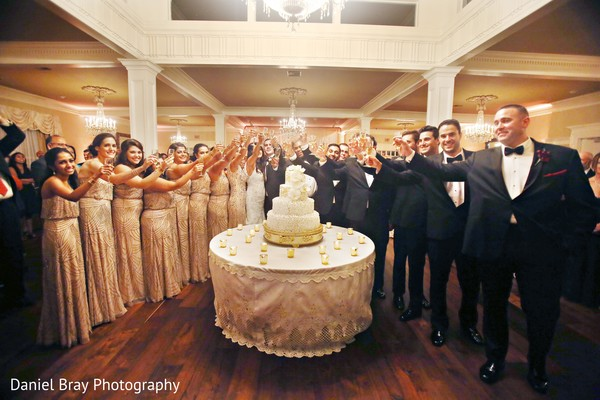 Bridal party toast in White Castle, LA Fusion Wedding by Daniel Bray Photography