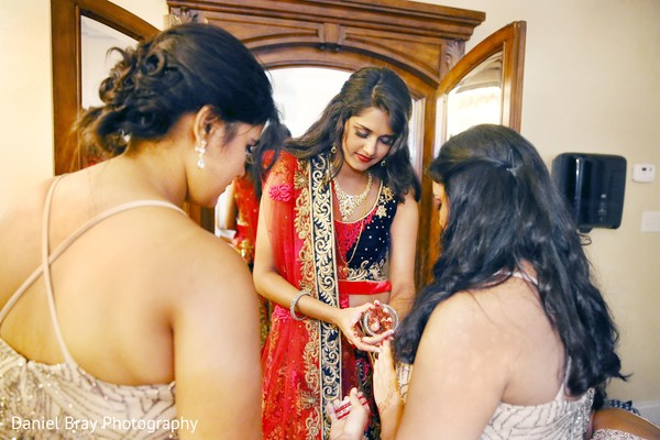Indian bridal outfit in White Castle, LA Fusion Wedding by Daniel Bray Photography