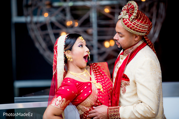 indian bride and groom portrait,indian fusion wedding day portrait,bride and groom outdoor photography,bride and groom outdoors