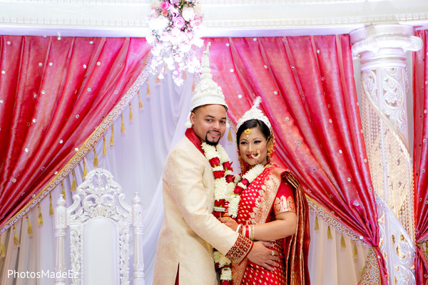 Indian Bride and Groom in New Brunswick, NJ Indian Fusion Wedding by PhotosMadeEz