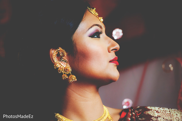 Indian Bridal Portrait in New Brunswick, NJ Indian Fusion Wedding by PhotosMadeEz