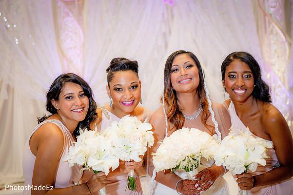 Bridesmaids in New Brunswick, NJ Indian Fusion Wedding by PhotosMadeEz