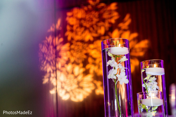 Floral Decor Centerpiece in New Brunswick, NJ Indian Fusion Wedding by PhotosMadeEz