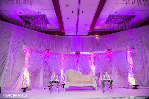 Sweetheart Stage in New Brunswick, NJ Indian Fusion Wedding by PhotosMadeEz