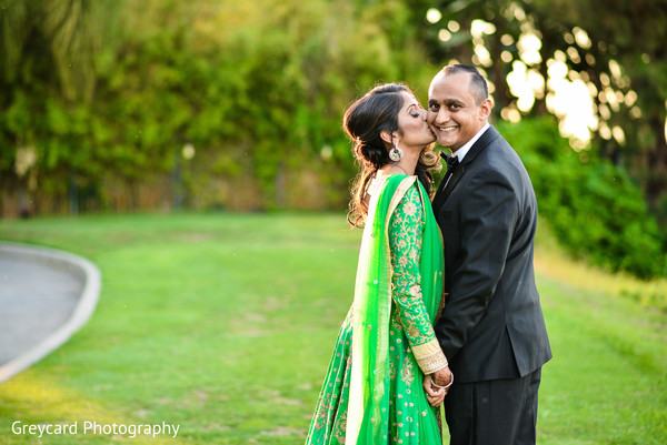Bride and Groom Reception Day Photo in Azusa, CA Indian Fusion Wedding by Greycard Photography