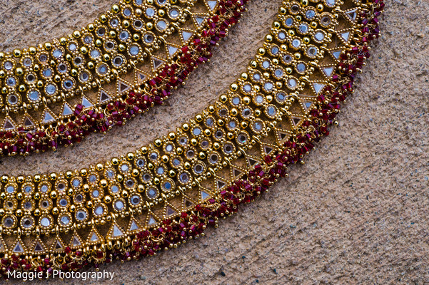 Elegant india bridal jewelry necklace. in Bethlehem, Pennsylvania Indian Wedding by Maggie J Photography