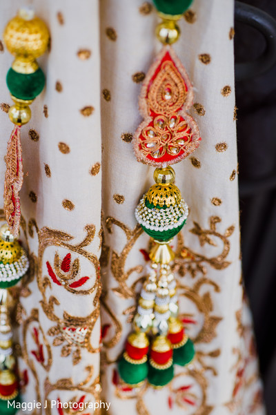 Indian bride lengha detail. in Bethlehem, Pennsylvania Indian Wedding by Maggie J Photography