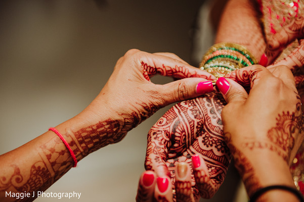 Intrincate and beautiful bridal mehndi design. in Bethlehem, Pennsylvania Indian Wedding by Maggie J Photography