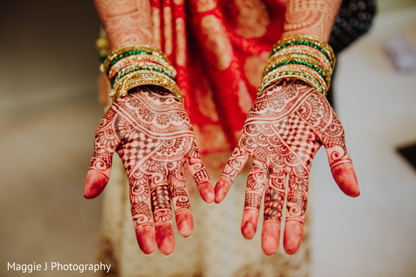 Inspiring bridal menhdi design. in Bethlehem, Pennsylvania Indian Wedding by Maggie J Photography