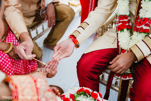 Indian wedding ceremony ritual. in Bethlehem, Pennsylvania Indian Wedding by Maggie J Photography