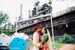 indian bride and groom,indian wedding outdoor photo shoot,indian wedding