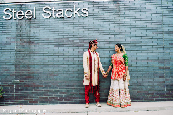 Indian bride and groom wedding photo shoot. in Bethlehem, Pennsylvania Indian Wedding by Maggie J Photography