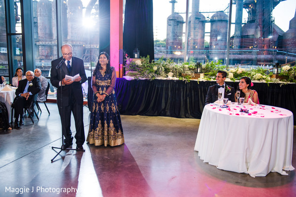 Indian wedding emotional speech time. in Bethlehem, Pennsylvania Indian Wedding by Maggie J Photography