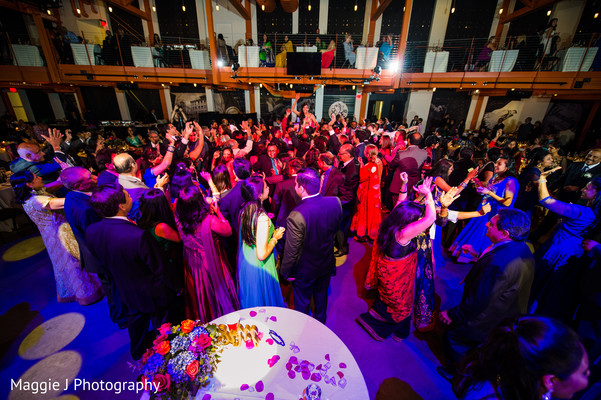 Time to dance for all the guests of this amazing indian wedding reception. in Bethlehem, Pennsylvania Indian Wedding by Maggie J Photography