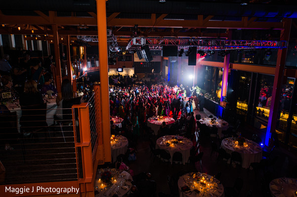 Panoramic image of the amazing indian wedding reception venue. in Bethlehem, Pennsylvania Indian Wedding by Maggie J Photography