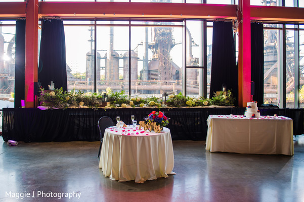 Elegant and brilliant indian wedding decoration and venue. in Bethlehem, Pennsylvania Indian Wedding by Maggie J Photography