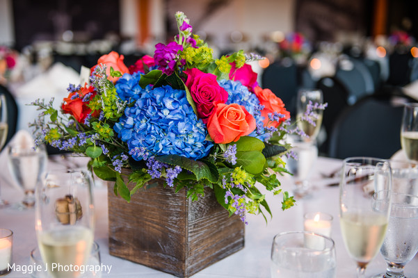 Floral Inspiring indian wedding centerpiece. in Bethlehem, Pennsylvania Indian Wedding by Maggie J Photography