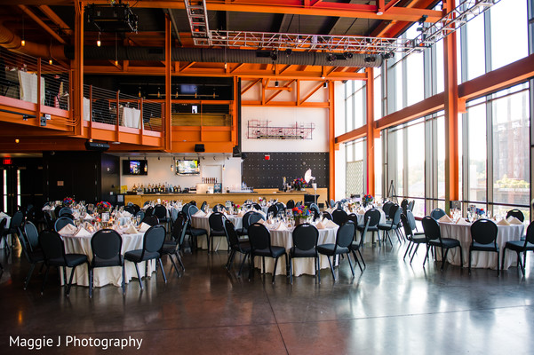 Perfect view of set up indian wedding reception venue. in Bethlehem, Pennsylvania Indian Wedding by Maggie J Photography