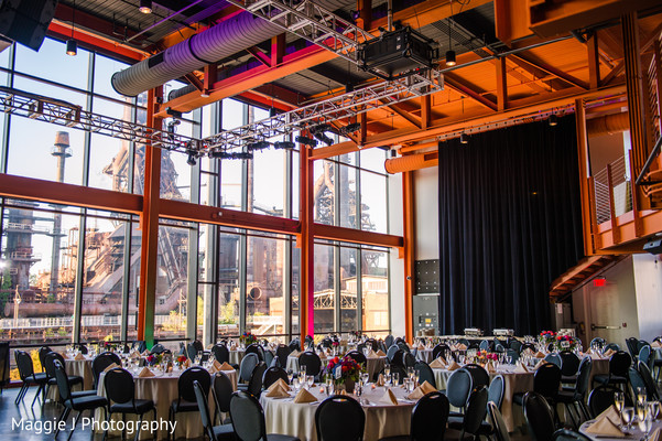 Old factory Indian wedding reception venue in Bethlehem, Pennsylvania Indian Wedding by Maggie J Photography